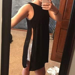 Forever 21 two-fabric with open side tank top